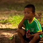 Bantey Srei - small boy in temple