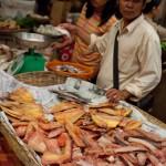 Siem Reap market - dried fish