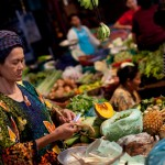 Siem Reap market - fresh food on the menus