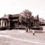 Temple inside Angkor Wat main complex